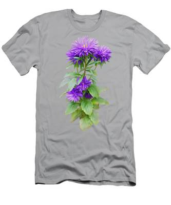 Purple Aster Men's T-Shirt (Athletic Fit)