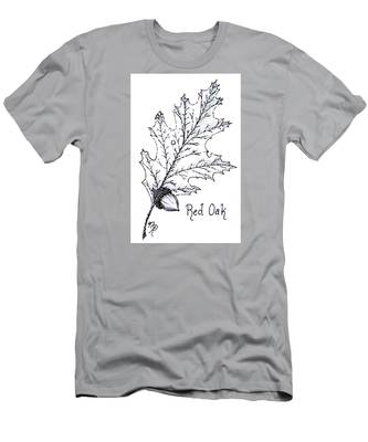 Red Oak Leaf And Acorn Men's T-Shirt (Athletic Fit)