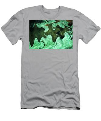 Men's T-Shirt (Athletic Fit) featuring the photograph Relaxing Abstract Of Rays And Sharks by Dennis Dame