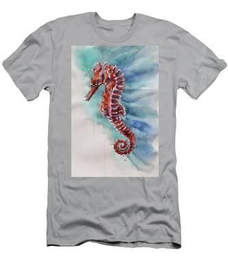 Seahorse 2 Men's T-Shirt (Athletic Fit)