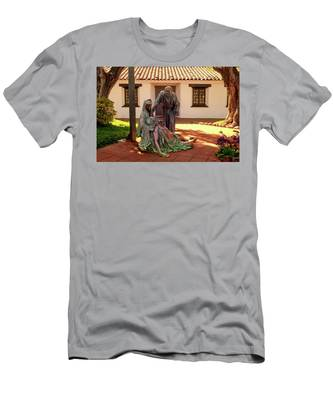 Men's T-Shirt (Athletic Fit) featuring the photograph Shadow Of The Cross Detail by Howard Bagley
