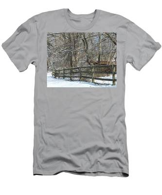 Winter Fence Men's T-Shirt (Athletic Fit)