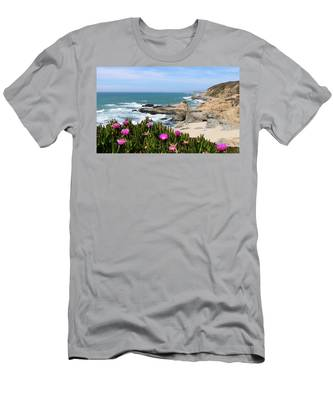 Men's T-Shirt (Athletic Fit) featuring the photograph View From Bodega Head In Bodega Bay Ca - 3 by Christy Pooschke