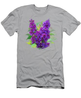 Watercolor Lilac Men's T-Shirt (Athletic Fit)