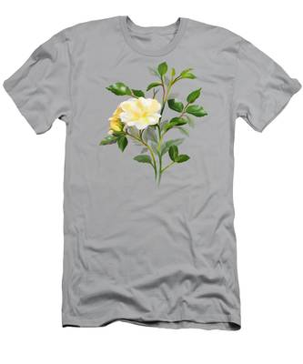 Yellow Watercolor Rose Men's T-Shirt (Athletic Fit)