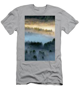 Men's T-Shirt (Athletic Fit) featuring the photograph Adirondack Fog by Brad Wenskoski