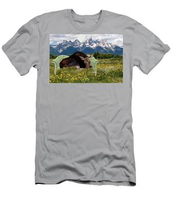 Nap Time In The Tetons Men's T-Shirt (Athletic Fit)
