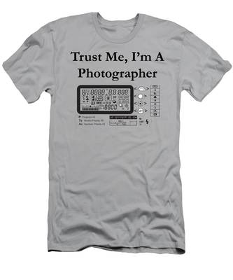 Men's T-Shirt (Athletic Fit) featuring the digital art Trust Me I'm A Photographer by Jeff Folger