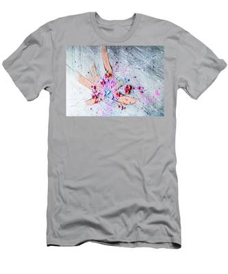 Men's T-Shirt (Athletic Fit) featuring the photograph Artsy Make-up II by Anne Leven