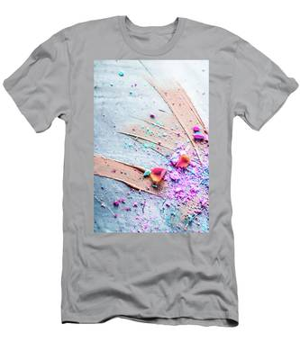 Men's T-Shirt (Athletic Fit) featuring the photograph Artsy Make-up V by Anne Leven