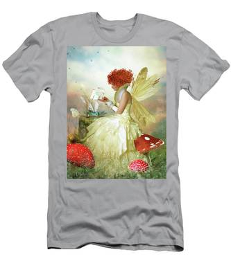 Butterfly Painter Men's T-Shirt (Athletic Fit)