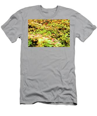 Men's T-Shirt (Athletic Fit) featuring the photograph Autumn Nature II by Anne Leven