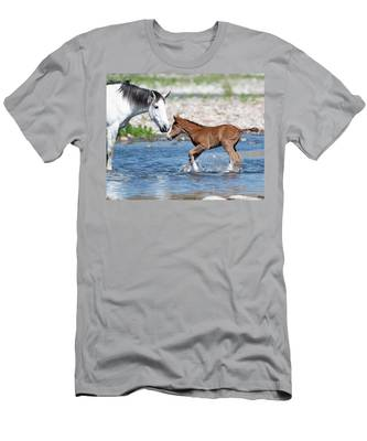 Baby's First River Trip Men's T-Shirt (Athletic Fit)