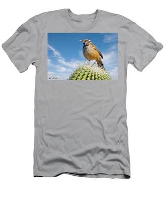 Cactus Wren On A Saguaro Cactus Men's T-Shirt (Athletic Fit)