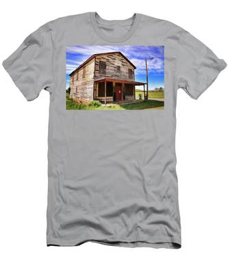 Men's T-Shirt (Athletic Fit) featuring the photograph Carter's Store In Goochland Virginia by Ola Allen