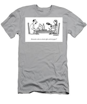 Coffee With The Paper Men's T-Shirt (Athletic Fit)