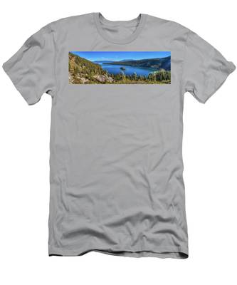 Men's T-Shirt (Athletic Fit) featuring the photograph Emerald Bay And Fannette Island Panorama by Andy Konieczny