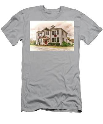 Men's T-Shirt (Athletic Fit) featuring the photograph Hamilton High School In Cumberland County Virginia by Ola Allen