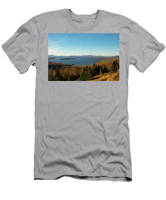 Height Of Land In Maine Men's T-Shirt (Athletic Fit) by Jeff Folger