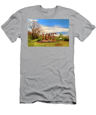 Men's T-Shirt (Athletic Fit) featuring the photograph Love In Farmville Virginia by Ola Allen