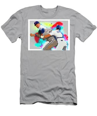 Nolan Ryan, Robin Ventura Brawl Men's T-Shirt (Athletic Fit)