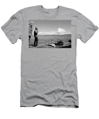 Men's T-Shirt (Athletic Fit) featuring the photograph Office Of The Poet by Carl Young