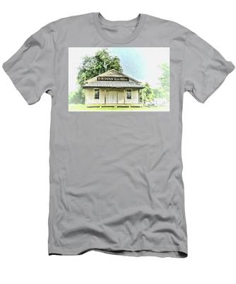 Men's T-Shirt (Athletic Fit) featuring the photograph Quiet Reminder Of Yesterday In Goochland, County Virginia by Ola Allen