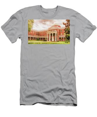 Men's T-Shirt (Athletic Fit) featuring the photograph Rotunda Building Longwood University In Farmville Virginia by Ola Allen