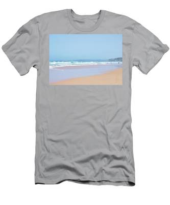 Summer Beach View Men's T-Shirt (Athletic Fit) by Anne Leven