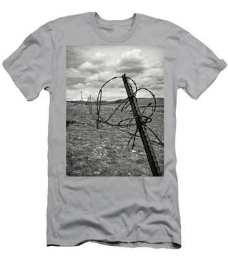 This Old Fence Men's T-Shirt (Athletic Fit) by Carl Young