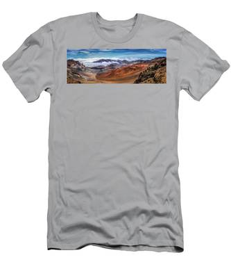 Top Of Haleakala Crater Men's T-Shirt (Athletic Fit) by Andy Konieczny