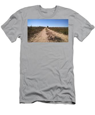 Men's T-Shirt (Athletic Fit) featuring the photograph Wind And Sand by Carl Young