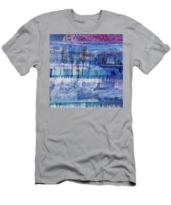 Winter Blues 1 Men's T-Shirt (Athletic Fit)