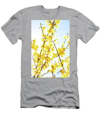 Men's T-Shirt (Athletic Fit) featuring the photograph Yellow Spring Iv by Anne Leven