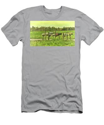 Men's T-Shirt (Athletic Fit) featuring the photograph You Got Mail by Ola Allen
