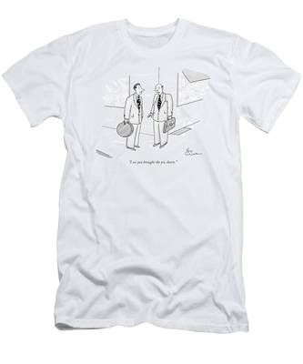 I See You Brought The Pie Charts Men's T-Shirt (Athletic Fit)