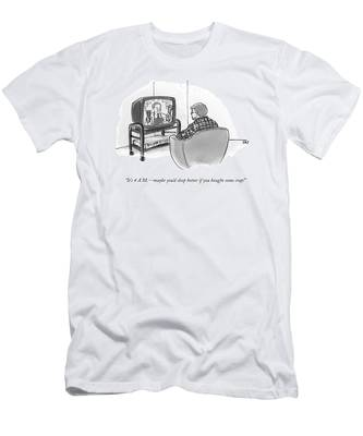 It's 4 A.m. - Maybe You'd Sleep Better If Men's T-Shirt (Athletic Fit)