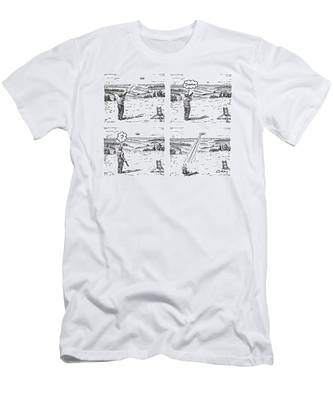 4 Panels.  Man Shoots At A Grout Which Then Turns Men's T-Shirt (Athletic Fit)
