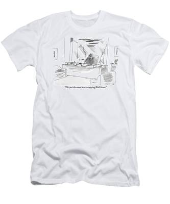An Executive Sitting In His Office Speaks Men's T-Shirt (Athletic Fit)