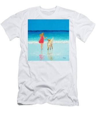 Beach Painting 'sunkissed Hair'  Men's T-Shirt (Athletic Fit)