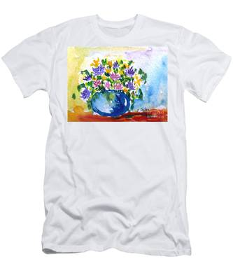 Bouquet Of Flowers In A Vase Men's T-Shirt (Athletic Fit)