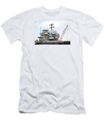 Uss Forrestal Bridge Men's T-Shirt (Athletic Fit)