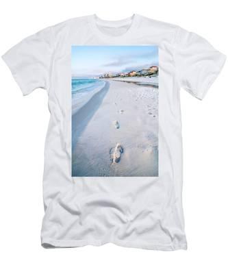 Florida Beach Scene Men's T-Shirt (Athletic Fit)