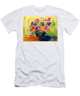 Flowers In A Vase Men's T-Shirt (Athletic Fit)