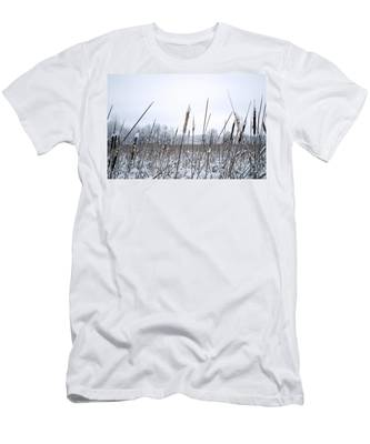 Frosty Cattails Men's T-Shirt (Athletic Fit)
