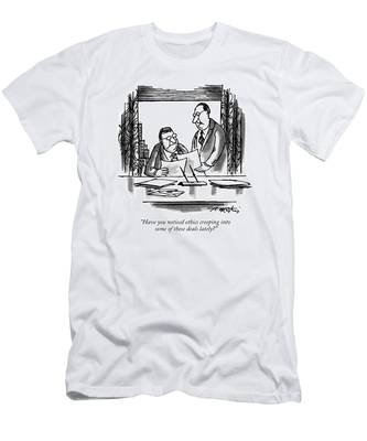 Have You Noticed Ethics Creeping Into Some Men's T-Shirt (Athletic Fit)