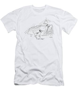 I Can't Sleep Men's T-Shirt (Athletic Fit)