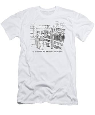 In Six More Weeks Men's T-Shirt (Athletic Fit)
