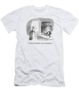 It's Fancy-schmantzy.  I Just Wanted Fancy Men's T-Shirt (Athletic Fit)