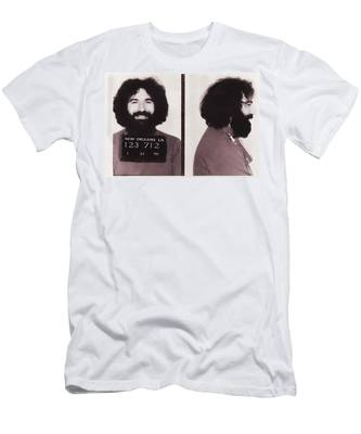 Men's T-Shirt (Athletic Fit) featuring the photograph Jerry Garcia Mugshot by Digital Reproductions